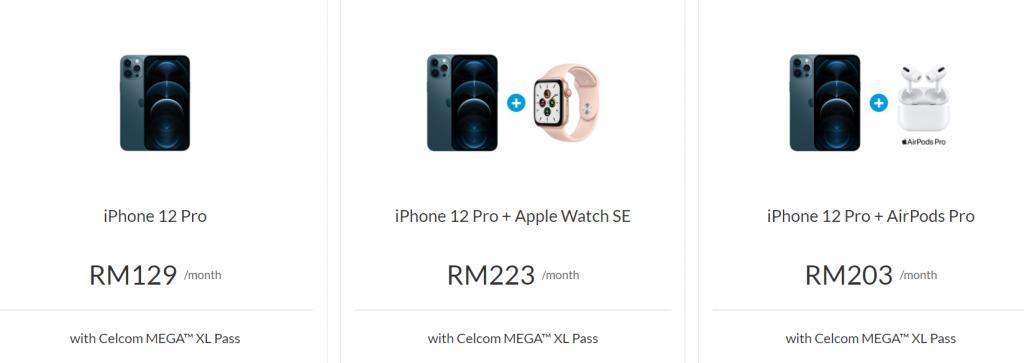 Perbandingan pelan pra-tempah siri iPhone 12: Celcom, Digi ...